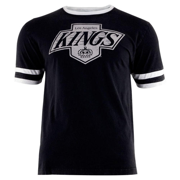 Los Angeles Kings - Logo Remote Control Black Adult Jersey T-Shirt