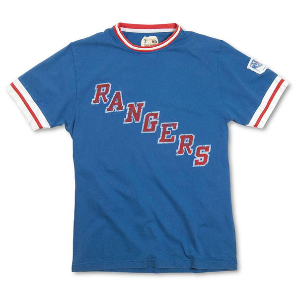 New York Rangers - Diagonal Logo Remote Control Royal Adult Jersey T-Shirt