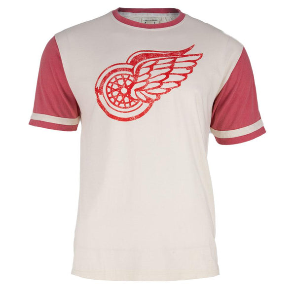 Detroit Red Wings - Logo Remote Control White Adult Jersey T-Shirt
