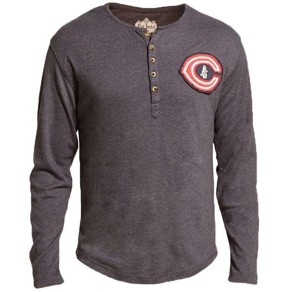 Chicago Cubs - Chest Logo Primo Adult Henley Long Sleeve T-Shirt