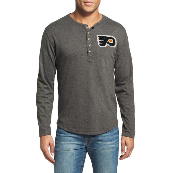 Philadelphia Flyers - Chest Logo Primo Adult Henley Long Sleeve T-Shirt
