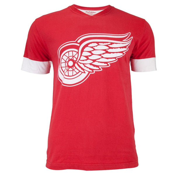 Detroit Red Wings - Logo Hat Trick Adult Jersey T-Shirt