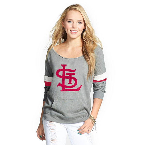 St Louis Cardinals - Logo Deal Juniors Scoop Neck Pocket Sweatshirt