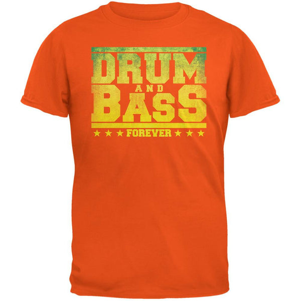 Drum And Bass Forever Orange Adult T-Shirt