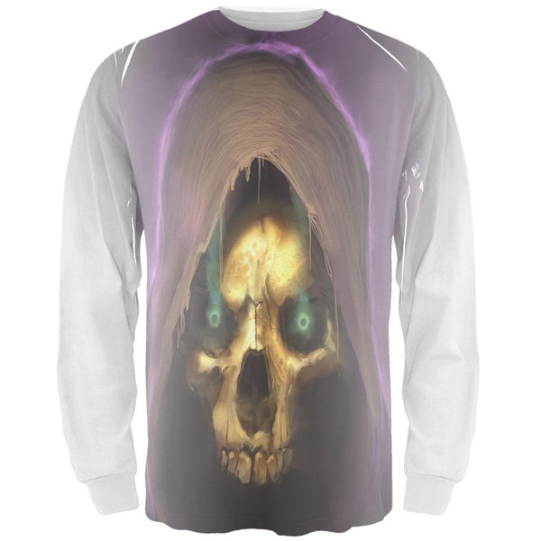 Halloween Grim Reaper All Over Adult Long Sleeve T-Shirt