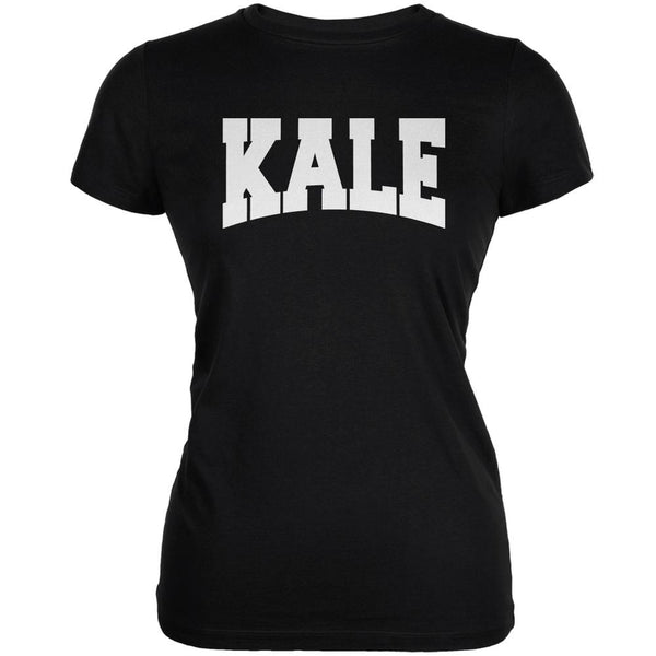 Kale Black Juniors Soft T-Shirt