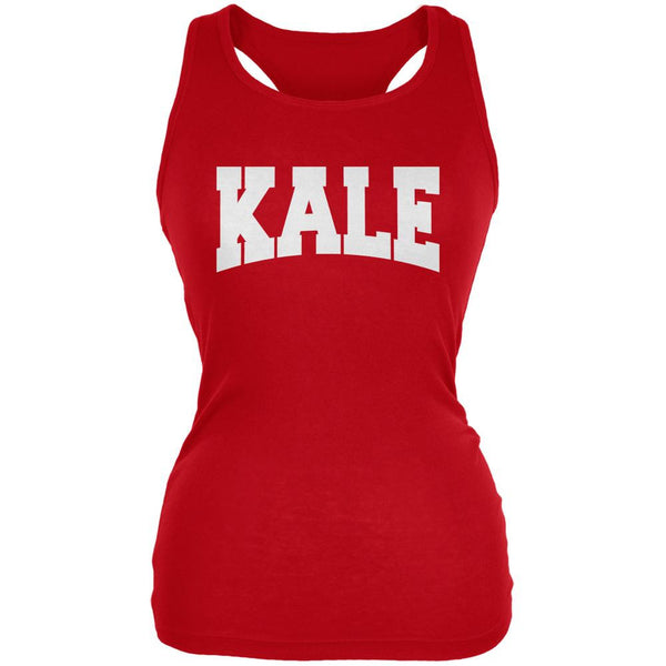 Kale Red Juniors Soft Tank Top