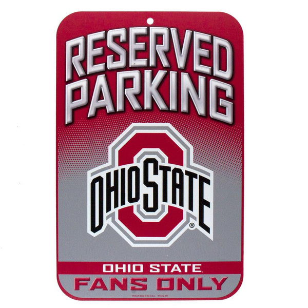Ohio State Buckeyes - Reserved Parking Plastic Sign