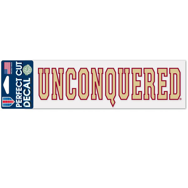 Florida State Seminoles - Unconquered 3x10 Perfect Cut Decal