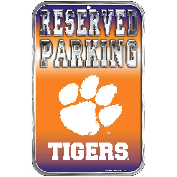 Clemson Tigers - Reserved Parking Plastic Sign