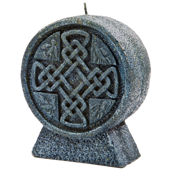 Celtic Cross - Round Candle