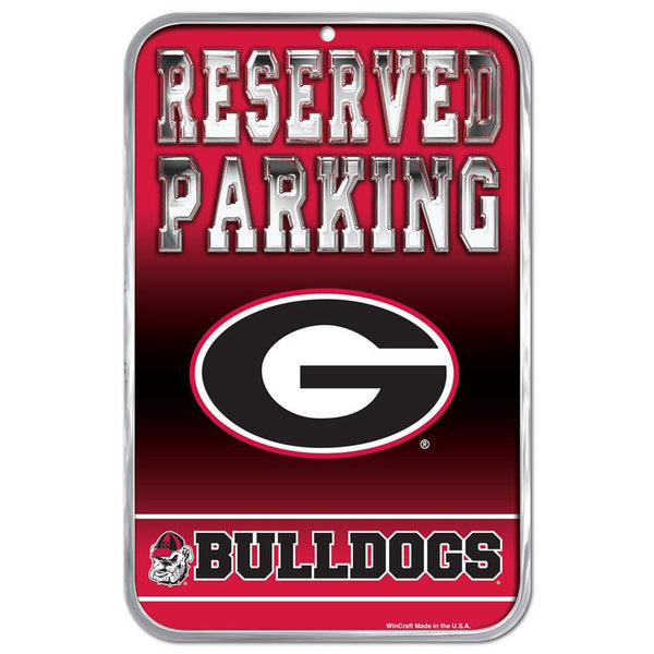 Georgia Bulldogs - Reserved Parking Plastic Sign