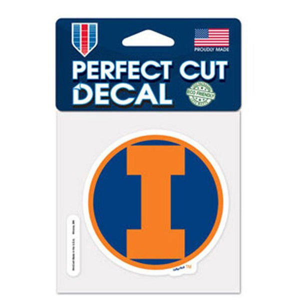 Illinois Fighting Illini - Logo 5x6 Perfect Cut Decal