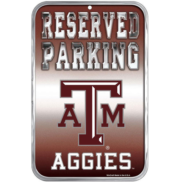 Texas A Aggies - Reserved Parking Plastic Sign