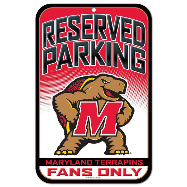 Maryland Terrapins - Reserved Parking Plastic Sign