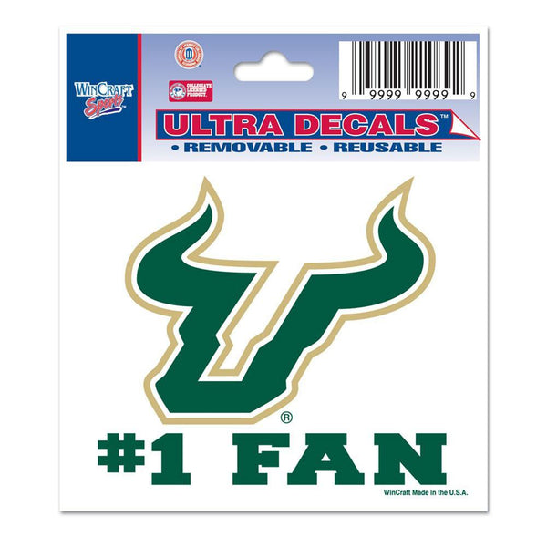 USF Bulls - 1 Fan 4X4 Perfect Cut Decal