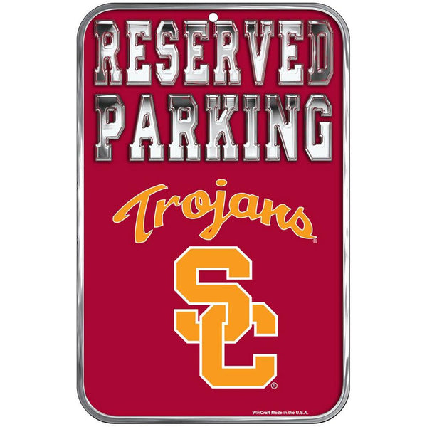 USC Trojans - Reserved Parking Plastic Sign