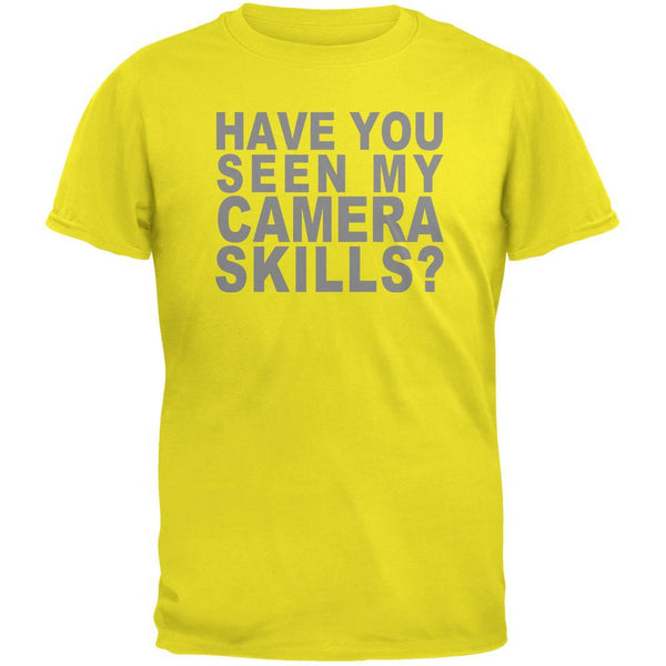 My Camera Skills Flip Up Flash Bright Yellow Adult T-Shirt