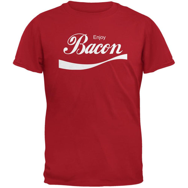 Enjoy Bacon Red Adult T-Shirt