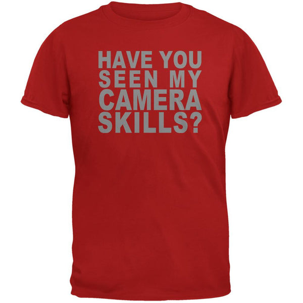 My Camera Skills Flip Up Flash Red Adult T-Shirt