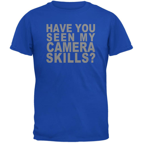 My Camera Skills Flip Up Flash Royal Adult T-Shirt
