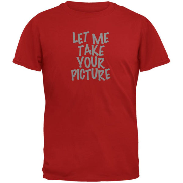 Take Your Photo Camera Flip Up Flash Red Adult T-Shirt