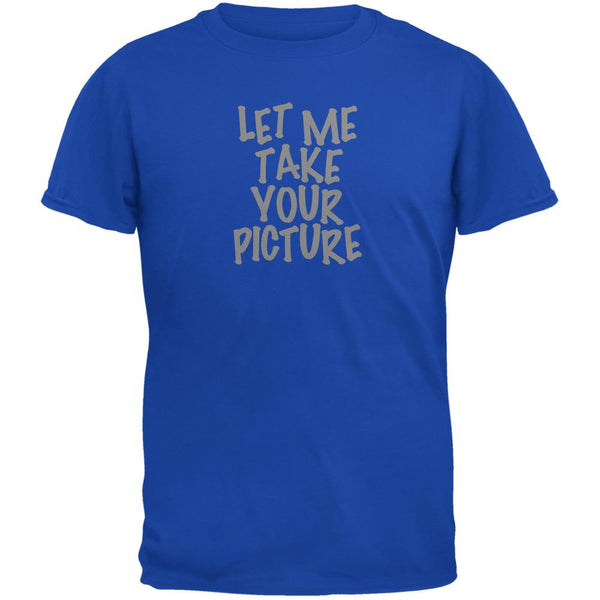 Take Your Photo Camera Flip Up Flash Royal Adult T-Shirt