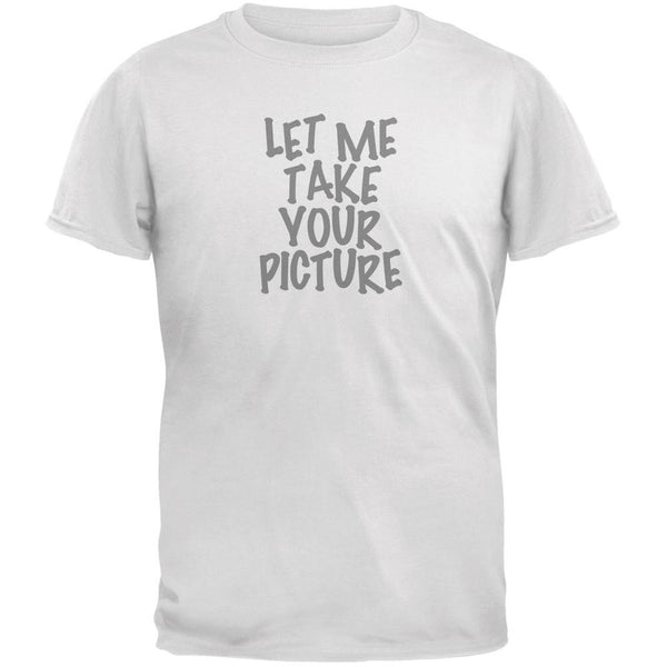 Take Your Photo Camera Flip Up Flash White Adult T-Shirt