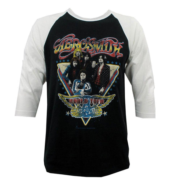 Aerosmith - World Tour Adult Raglan T-Shirt