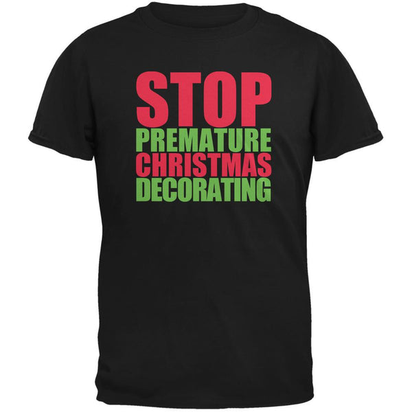 Christmas Stop Premature Decorating Black Youth T-Shirt