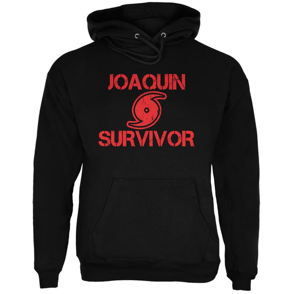 Hurricane Joaquin Survivor Black Adult Hoodie