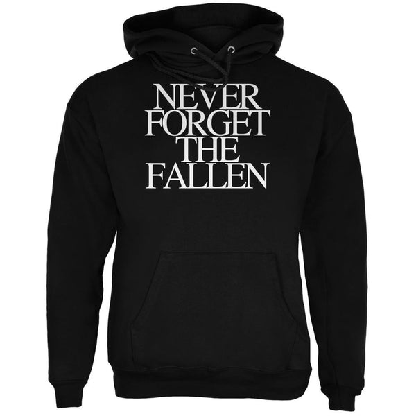 Never Forget the Fallen Black Adult Hoodie
