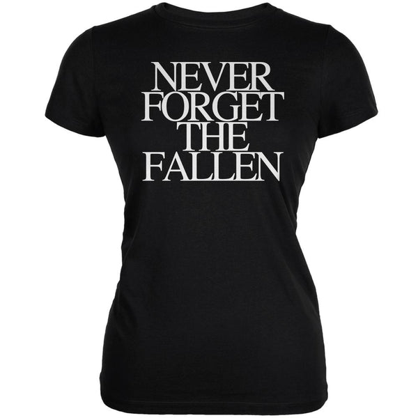 Never Forget the Fallen Black Juniors Soft T-Shirt
