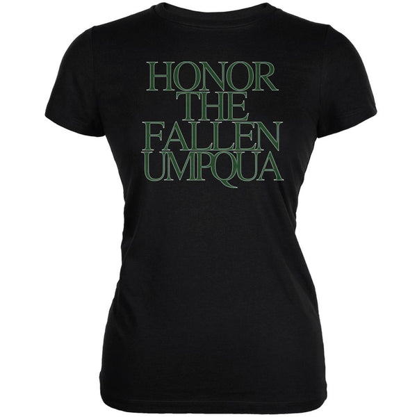 Honor the Fallen Umpqua Black Juniors Soft T-Shirt