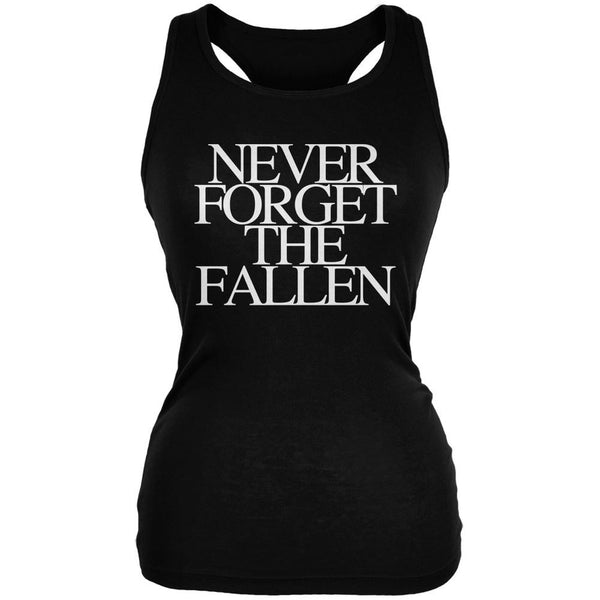 Never Forget the Fallen Black Juniors Soft Tank Top