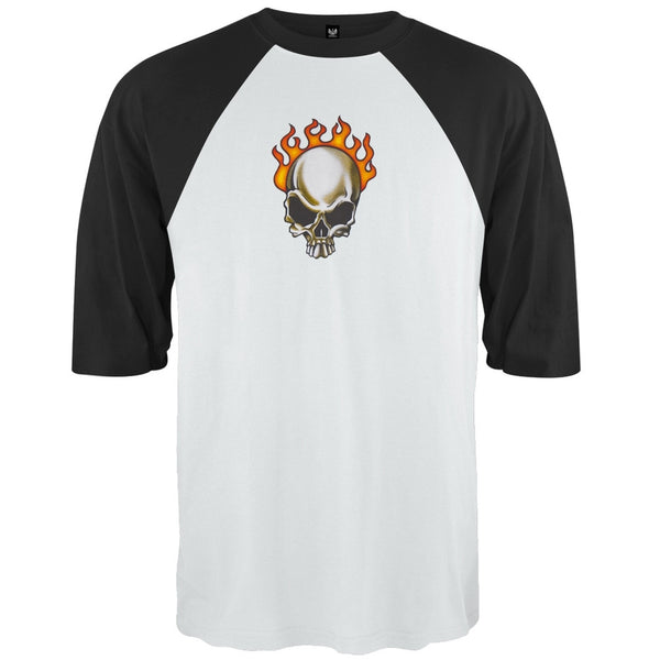 Flaming Skull - 3/4 Sleeve