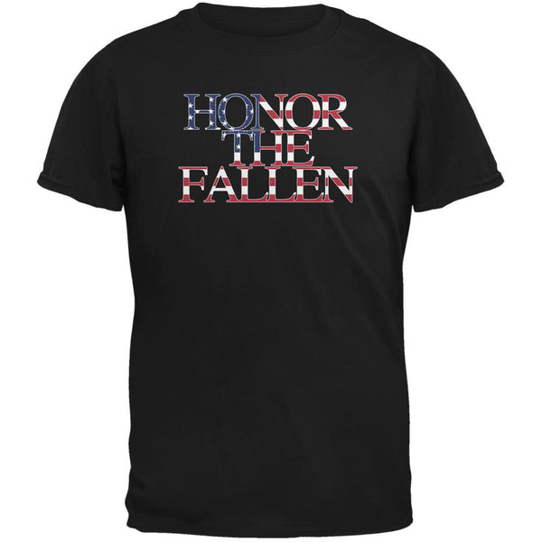 Honor the Fallen American Patriot Black Youth T-Shirt