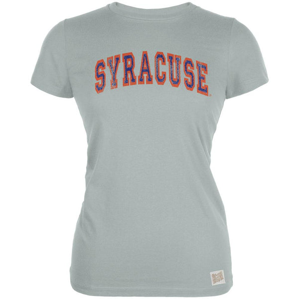 Syracuse Orange - Distressed Outlined Arch Logo Vintage Juniors T-Shirt