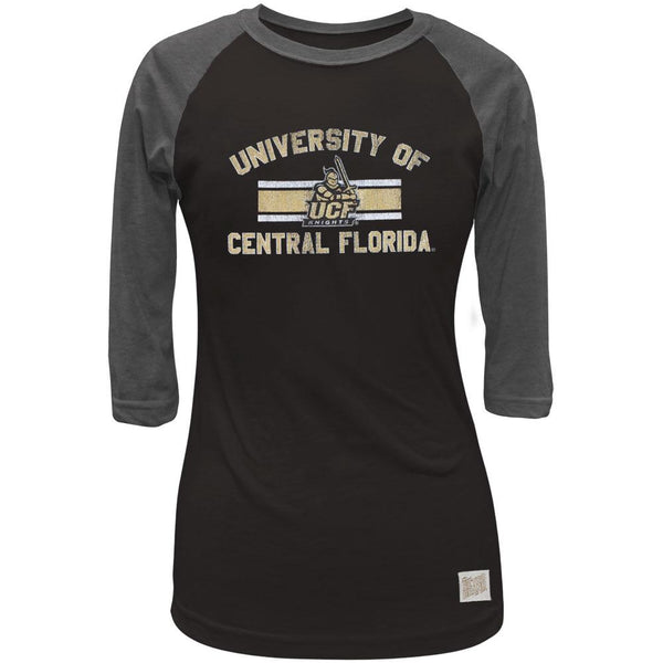 UCF Knights - Bar Logo Juniors 3/4 Sleeve Raglan