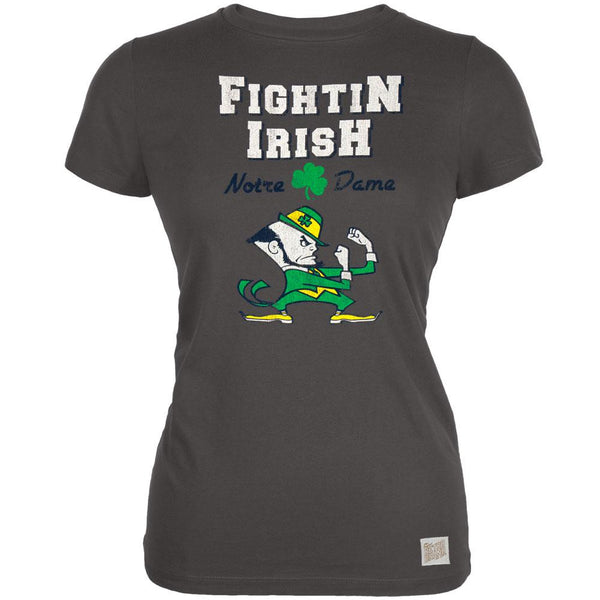 Notre Dame Fighting Irish - Shamrock Mascot Vintage Juniors T-Shirt