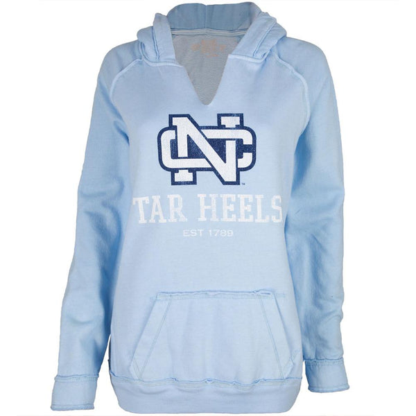North Carolina Tar Heels - Est 1789 Juniors Relaxed Slit-Neck Hoodie