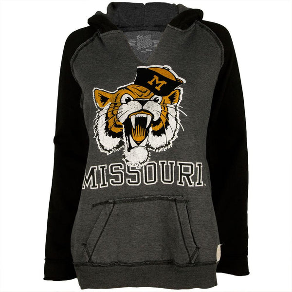 Missouri Tigers - Roaring Mascot Juniors Relaxed Slit-Neck Hoodie