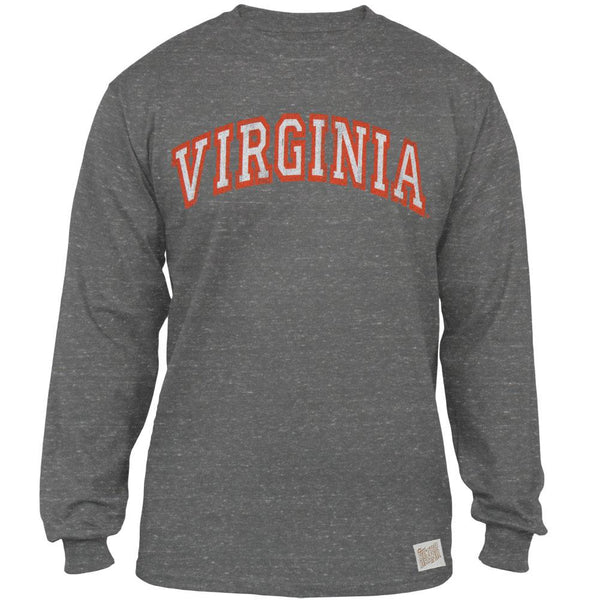 Virginia Cavaliers - Arched Logo Tri-Blend Adult Long Sleeve T-Shirt