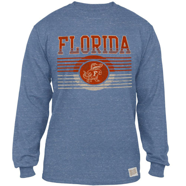 Florida Gators - Distressed Lines Logo Tri-Blend Adult Long Sleeve T-Shirt