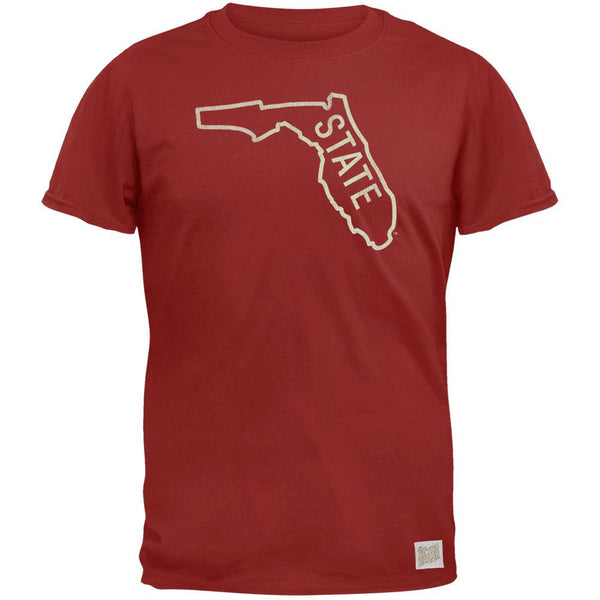 Florida State Seminoles - Distressed Outline State Vintage Adult Soft T-Shirt