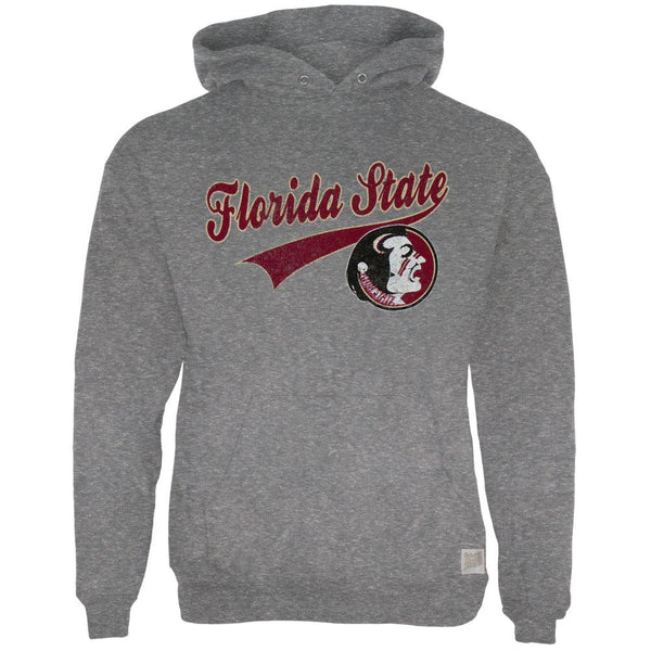 Florida State Seminoles - Distressed Swoosh Logo Tri-Blend Adult Pullover Hoodie