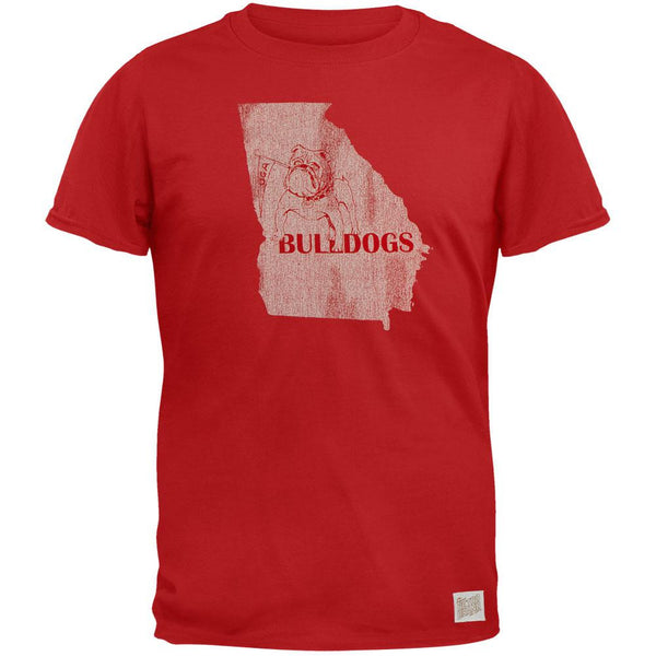 Georgia Bulldogs - Distressed State Vintage Adult Soft T-Shirt