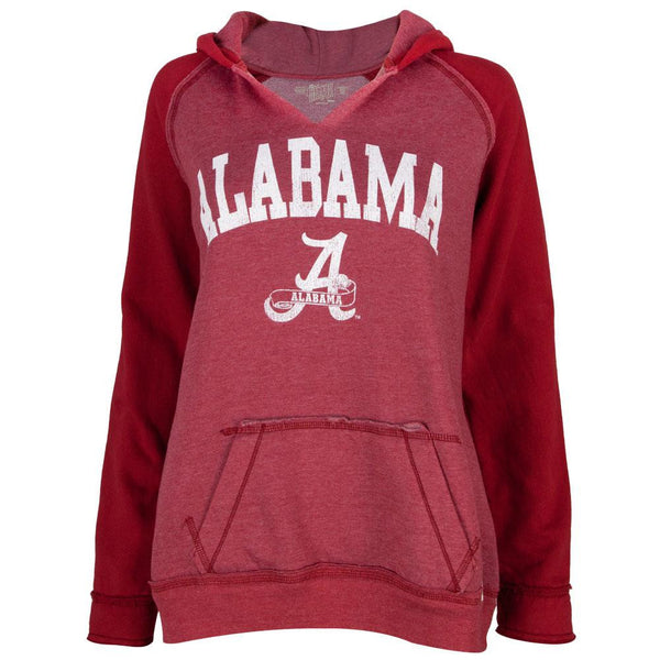 Alabama Crimson Tide - Name & Logo Juniors Relaxed Slit-Neck Hoodie