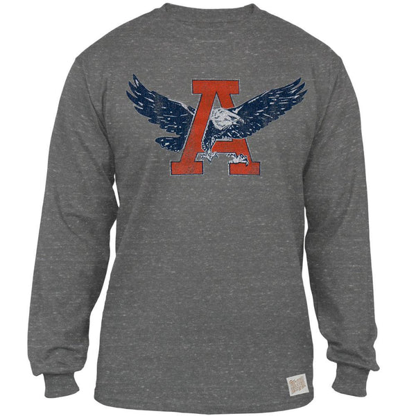 Auburn Tigers - Giant A War Eagle Tri-Blend Adult Long Sleeve T-Shirt