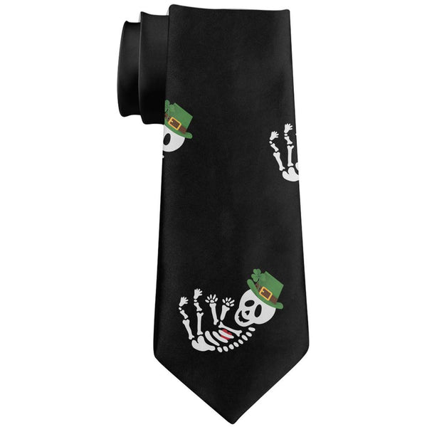 Halloween Skeleton Irish Baby All Over Neck Tie